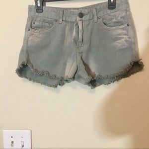 Free people grey distressed shorts